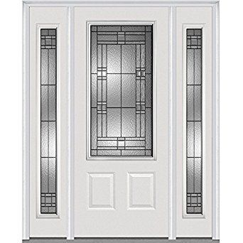 National Door Company Z021527r 3 X2f 4 Lite 2 Panel Roman Decorative Glass Fiberglass Smooth Primed 36 Quot X80 Quot Ri Front Entry Doors Mmi Door Front Door