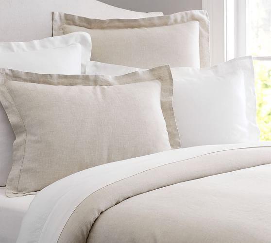 Belgian Flax Linen Duvet Cover Sham Handcrafted Quilts Linen Duvet Covers Quilted Sham