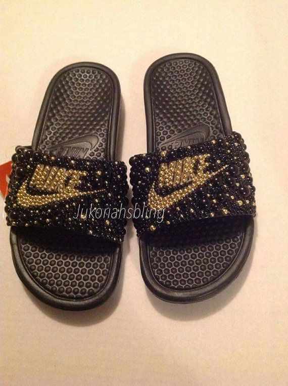 more photos 8c6d4 71641 Bling nike slides nike shoes accessories