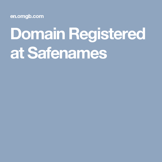 429c44eb3 Domain Registered at Safenames