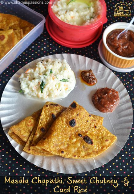 Masala chapathi and sweet chutney travel food recipes idea 6 forumfinder Image collections