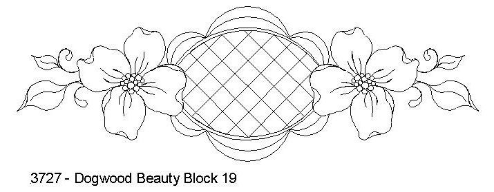 Dogwood Beauty Block 19 by One Song Needle Arts