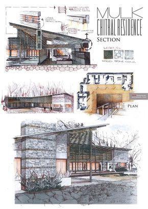 presentation layout professional architecture portfolio by anique