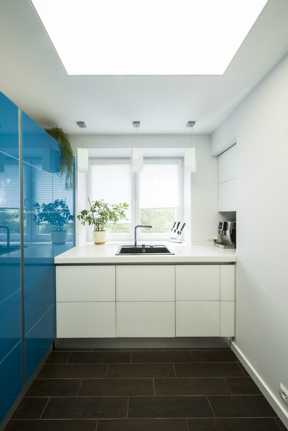Apartments Andrew Rudoi Small White Kitchen Blue Wall Kitchen Alluring 2 Wall Kitchen Designs Inspiration Design