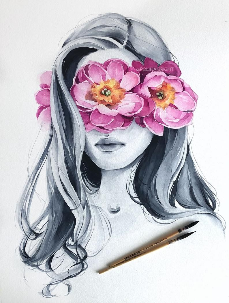 Peony Blindfolded In 2020 Watercolor Paintings Watercolor Art