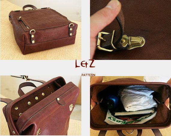 Etsy の PDF bag patterns bag sewing patterns Rucksack by LZpattern