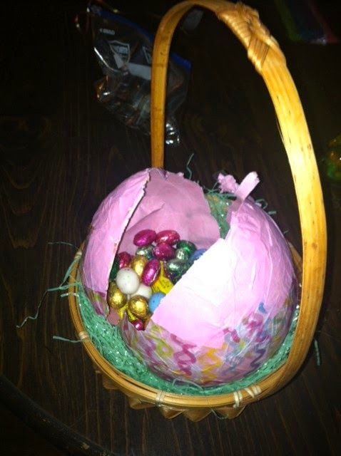 Bettys Craft Page Papier Mache Paper Mache Filled Easter Eggs