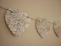 heart shape map bunting - Google Search