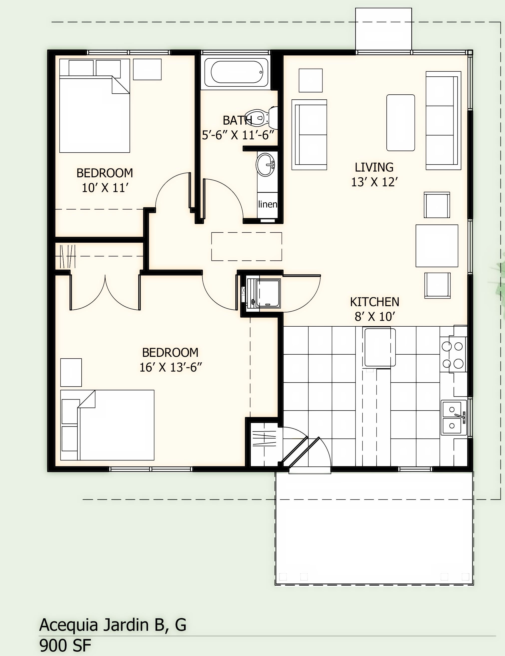 1 Bedroom 2 Bathroom House Plans Floorplan 900 900 Sq Ft 2 Bedroom 1 Bath Carport