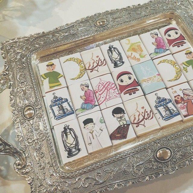 تغليفات شوكولا بمناسبة شهر رمضان الكريم كل عام وأنتم بألف خير Padgram Ramadan Instagram Posts Presentation