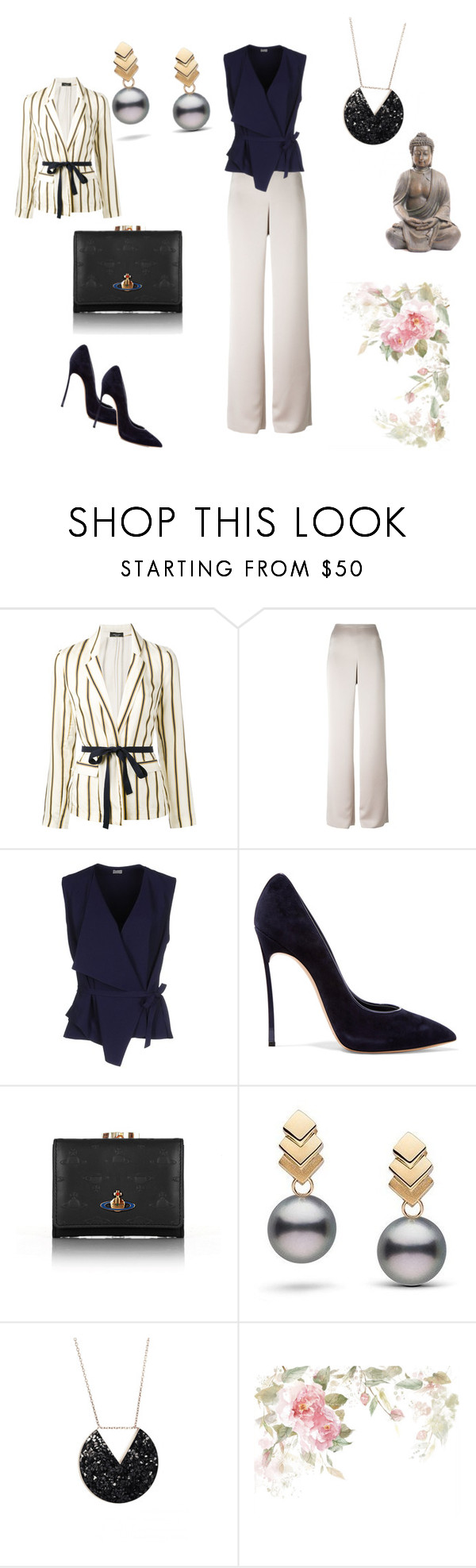 """""""Untitled #209"""" by suada24-07 ❤ liked on Polyvore featuring Roberto Collina, Armani Collezioni, Mantù, Casadei, Vivienne Westwood and Escalier"""