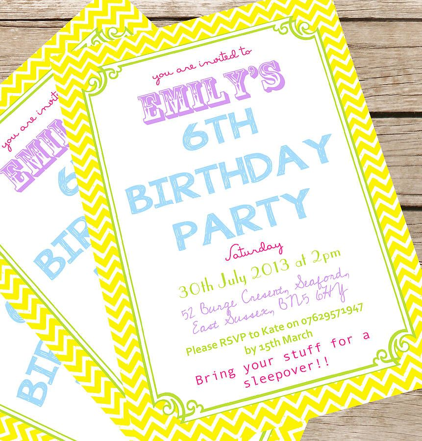 Personalised Children\'s Summer Party Invites | Summer party invites ...