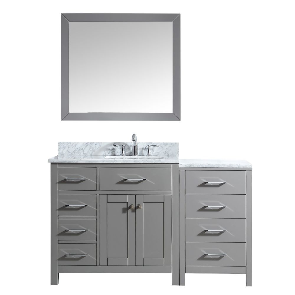 57 Inch Single Vanity In Cashmere Grey