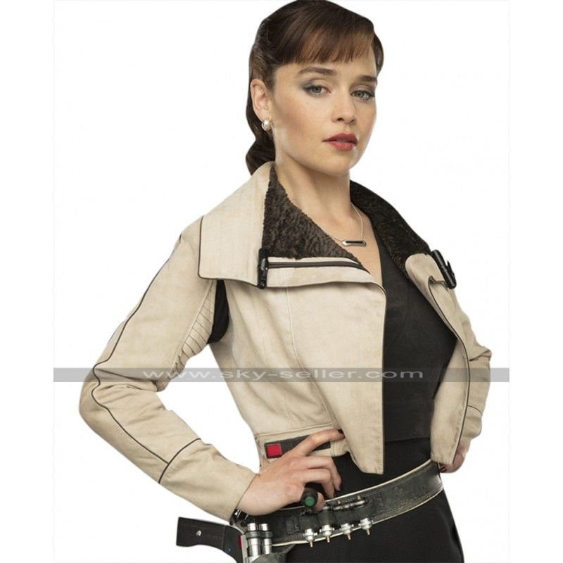 Star Wars Qi/'ra Jacket Solo A Star Wars Story Qira White Leather Jacket