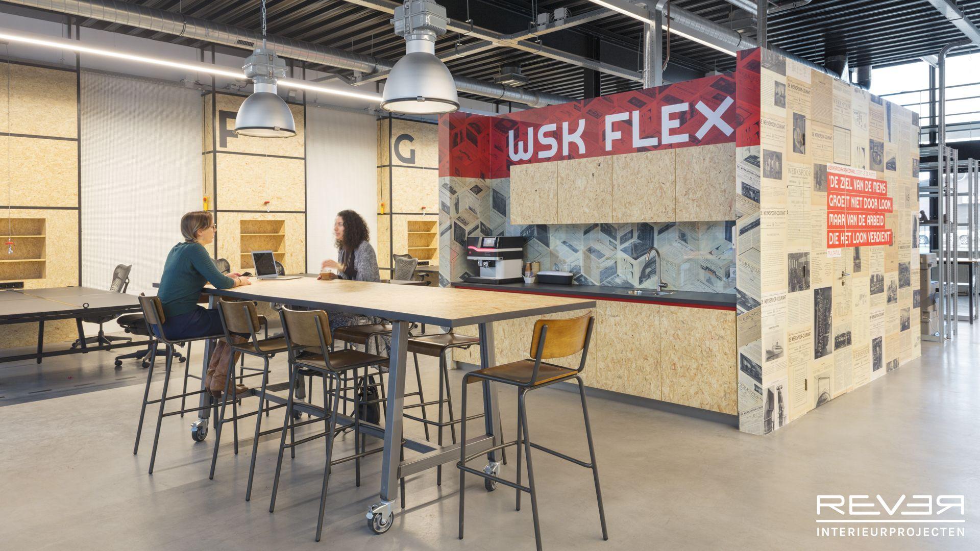 Studio E in de Werkspoorkathedraal. Ontwerp & realisatie door Rever Interieurprojecten. #flexwerken #industrieel #interieur #pantry #interior #interiorinspiration #flexworking
