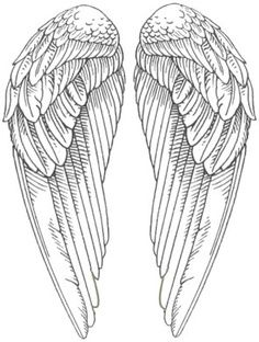 Free Digi Stamps Angel Wings Pictures Wings Drawing Wings