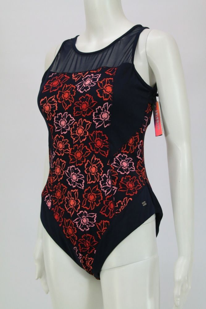 Tommy Hilfiger Women Swimsuit One Piece Flowers Size: EU42 / M #TommyHilfiger #OnePiece
