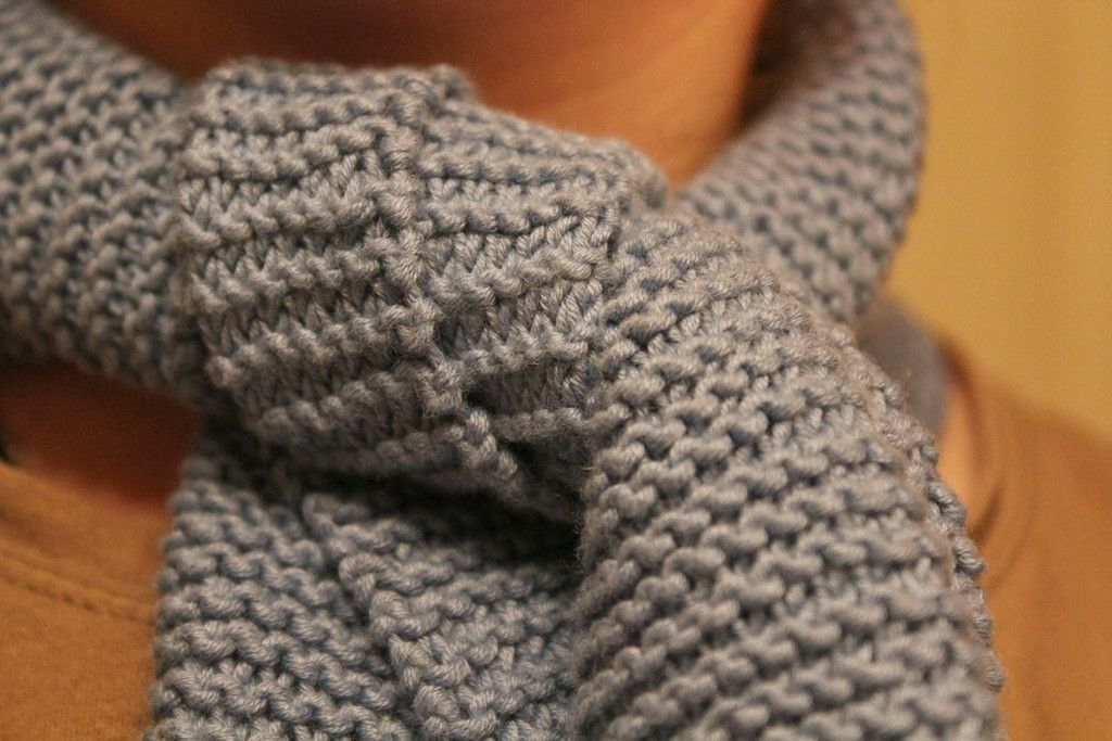 Free! Beginner Garter Stitch Scarf Pattern Knotty Knitting Pinterest Ga...