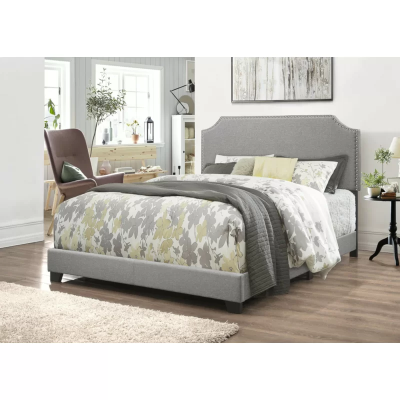 Charlton Home Conklin Upholstered Standard Bed & Reviews