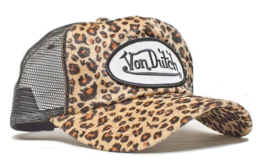 3361704d929 Authentic Brand New Von Dutch Cheetah Print Cap Hat Mesh Truckers Snapback  Rare