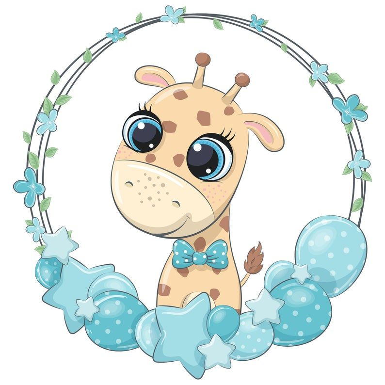 Baby Boy Animal With Wreath Clipart Png Eps Jpeg Cute Elephant Clip Art Animal Portrait In 2021 Baby Animal Drawings Elephant Clip Art Baby Clip Art
