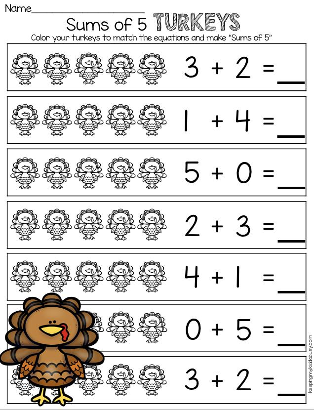 November Math And Literacy Pack Freebies Keeping My Kiddo Busy Thanksgiving Math Worksheets Thanksgiving Math Worksheets Free Kindergarten Math Units