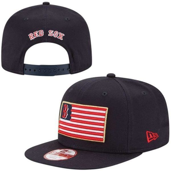 MLB Boston Red Sox New Era Flag Pop Original Fit 9FIFTY Adjustable Hat