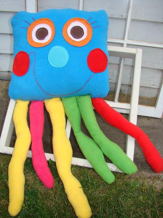 Fleece Jellyfish Toy Pillow Hooray For Hugs Giant Jellyfish Pillow