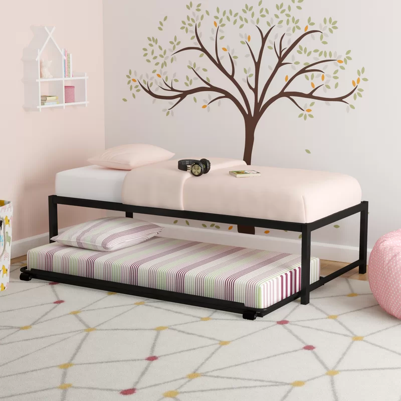 Josef Twin Platform Bed With Trundle In 2020 Twin Platform Bed