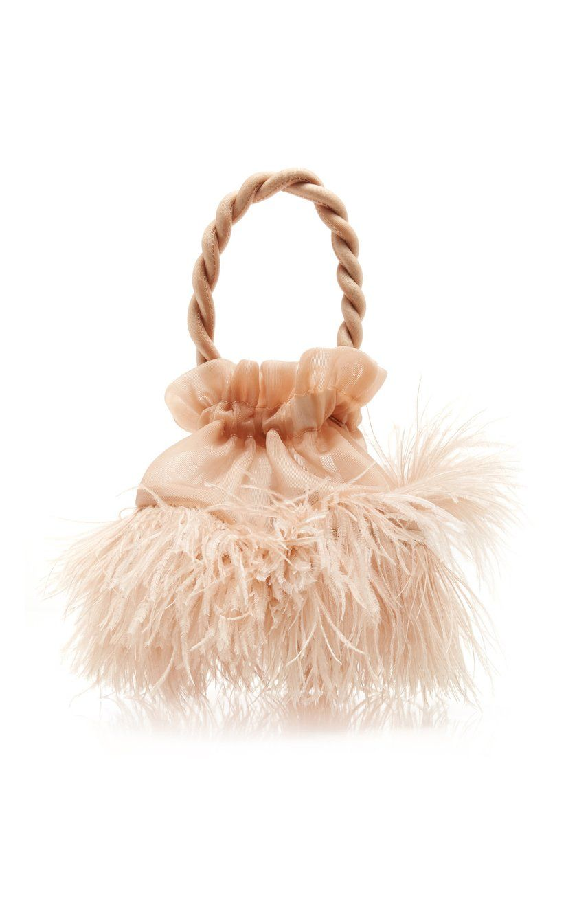 Grace Ostrich Feather Top Handle Bag By Staud Moda Operandi In 2020 Ostrich Feathers Feather Tops Ostrich