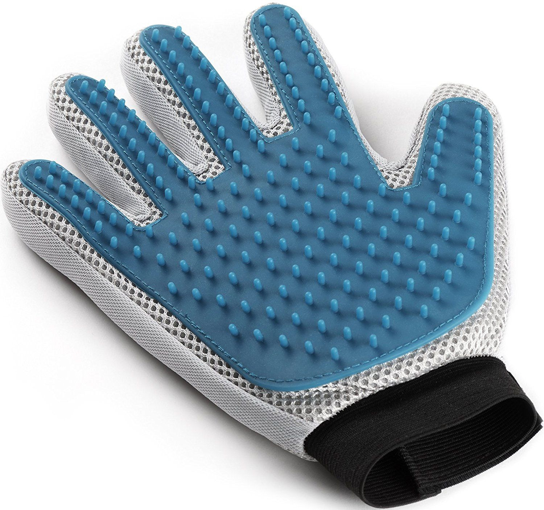 Pet Grooming Glove Enhanced Five Finger Design For