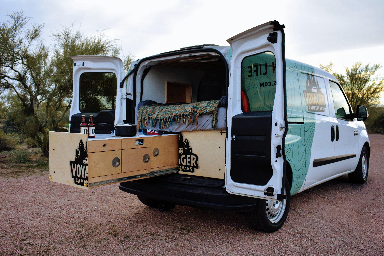 Voyagerv1back Camper Van Van Rental Vans