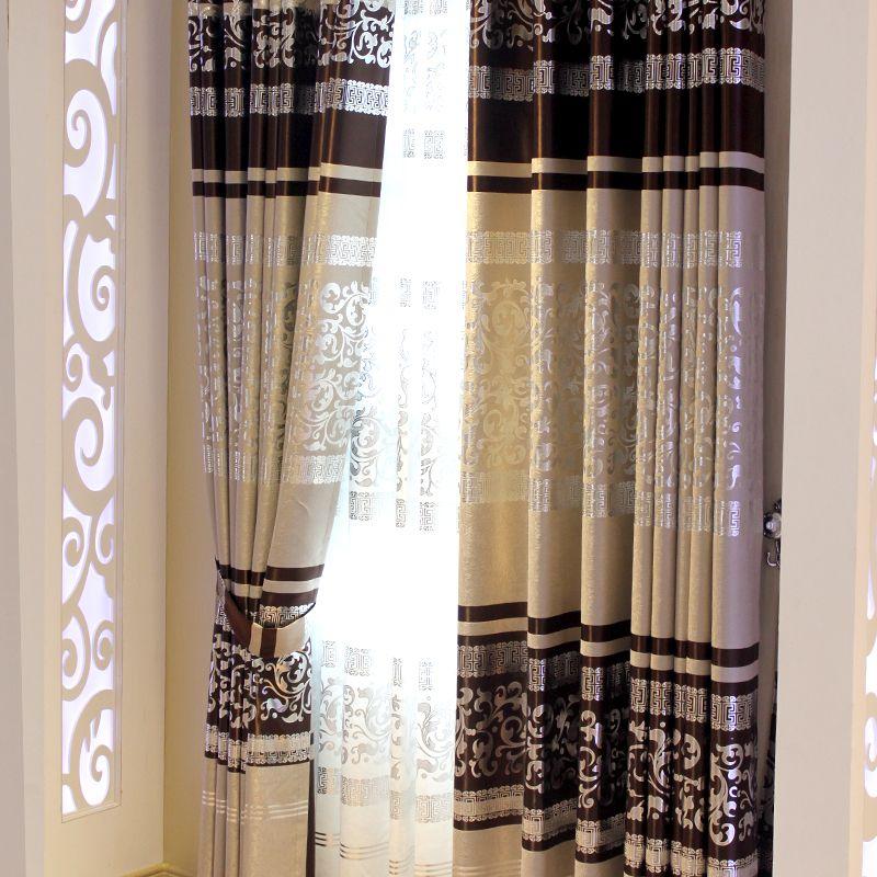 modern Chinese style | Modern chinese style classical grey curtain ...