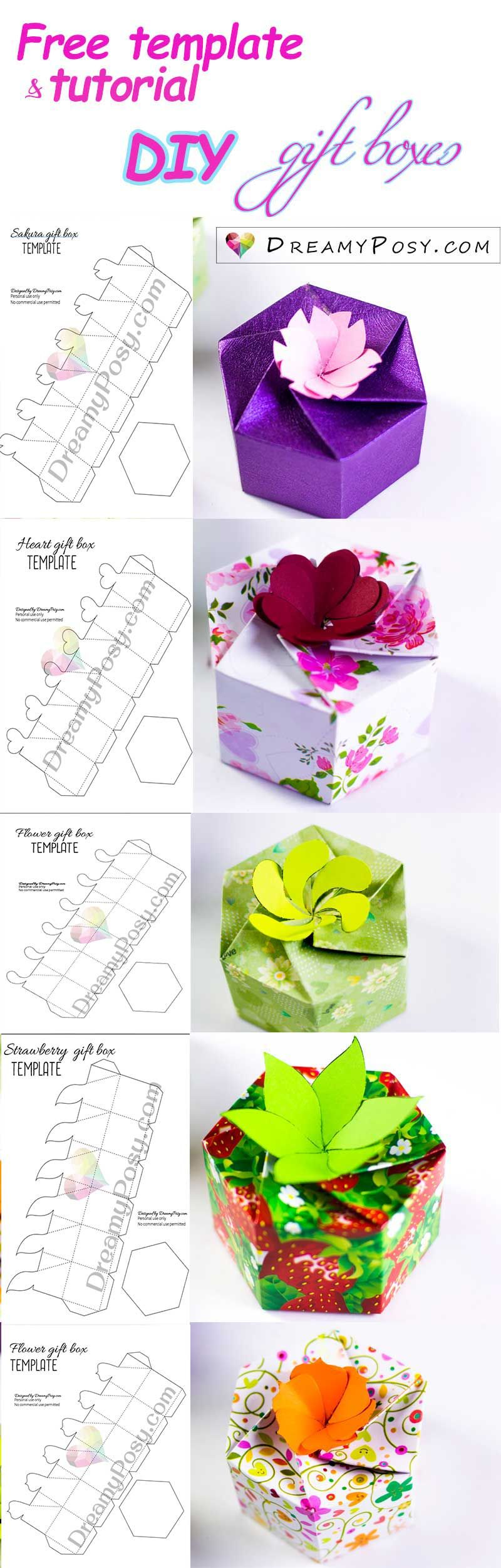 How to make personalized gift boxes, free template Diy
