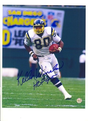 Autographed Kellen Winslow San Diego Chargers 8x10 Photo Inscribed HOF 95