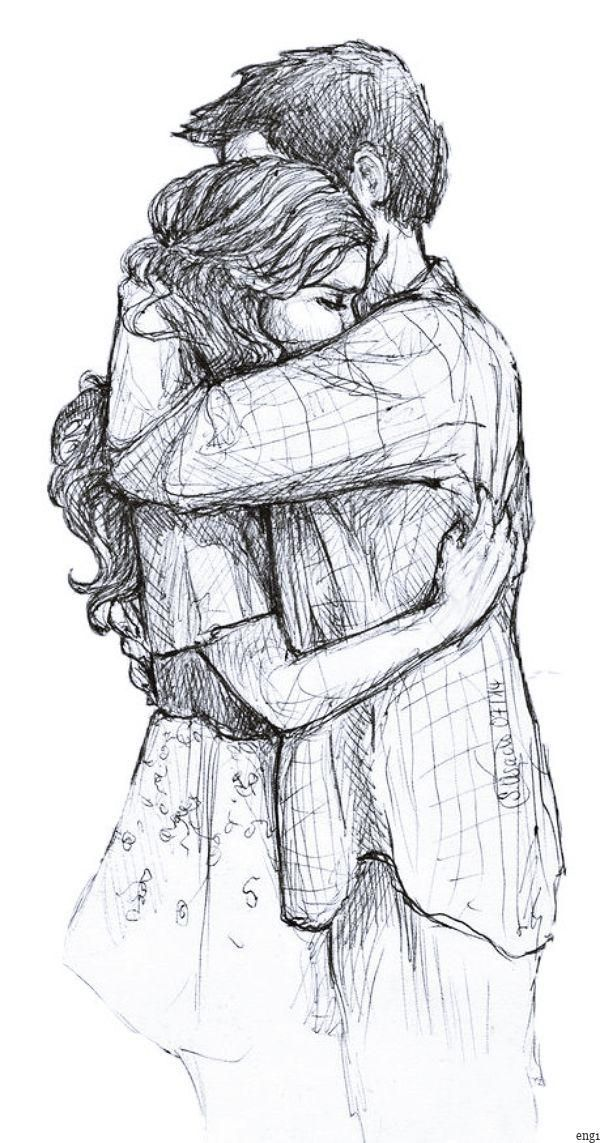 Pin by Radhika on Cute couple drawings in 2020 | Romantic ...
