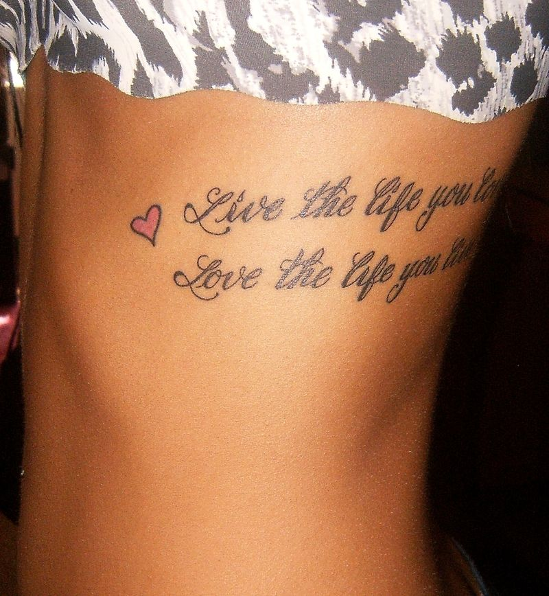 20 Live The Life You Love Heart Tattoo Pictures And Ideas On Carver