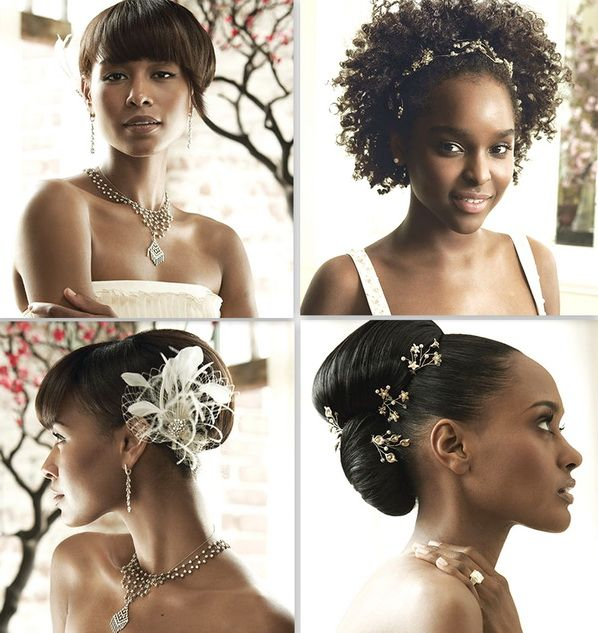 Tremendous 1000 Images About Black Women Wedding Hairstyles Amp Wedding Ideas Hairstyle Inspiration Daily Dogsangcom