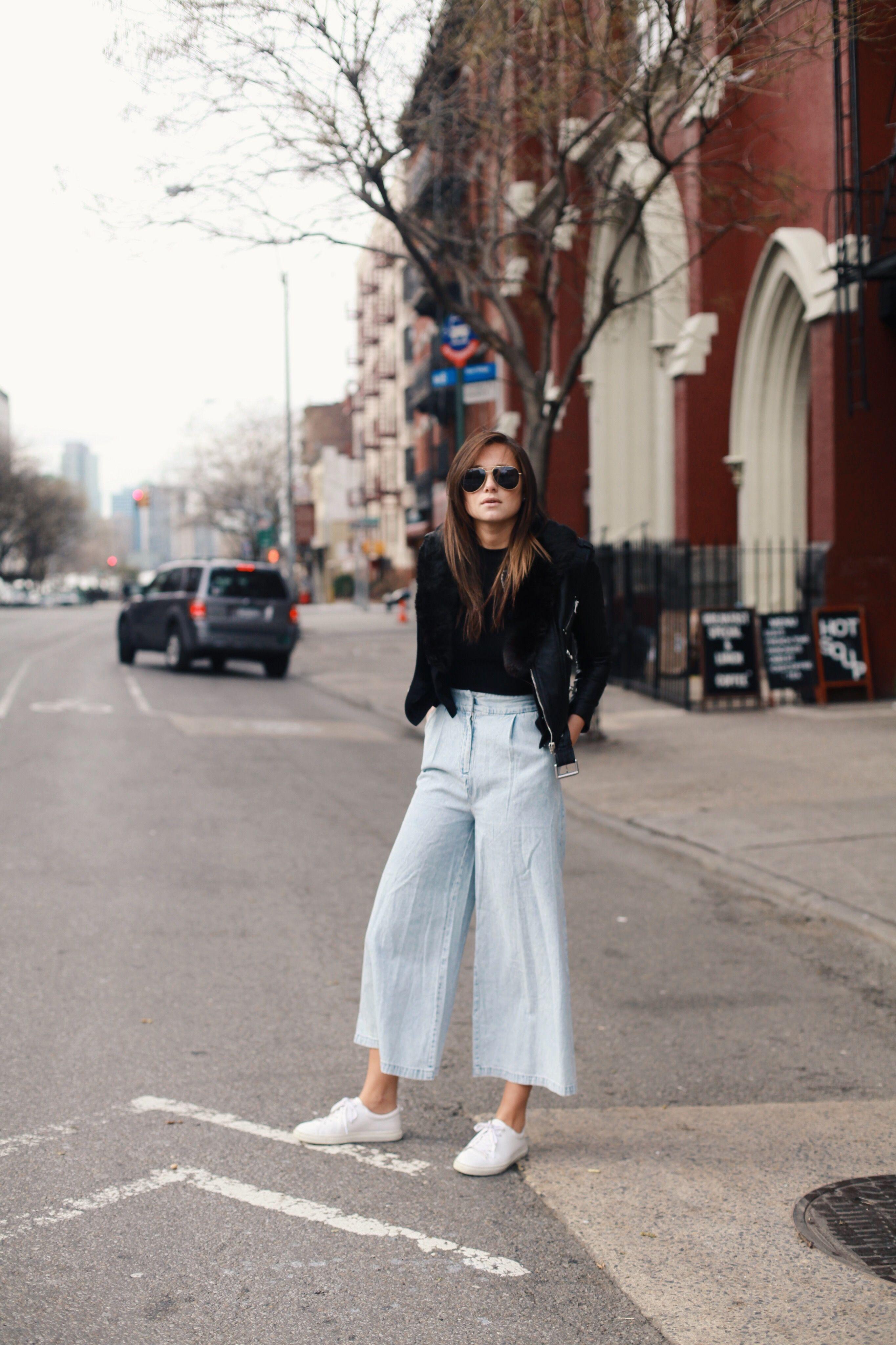 denim culottes. nyc. #weworewhat | denim | pinterest | denim