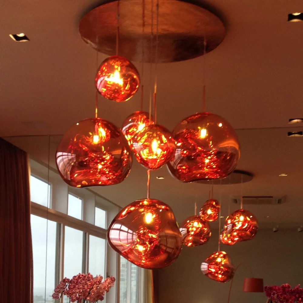 Melt Pendant Light System Replica Mooielight Pendant Light Plastic Lights Hand Blown Glass Lighting