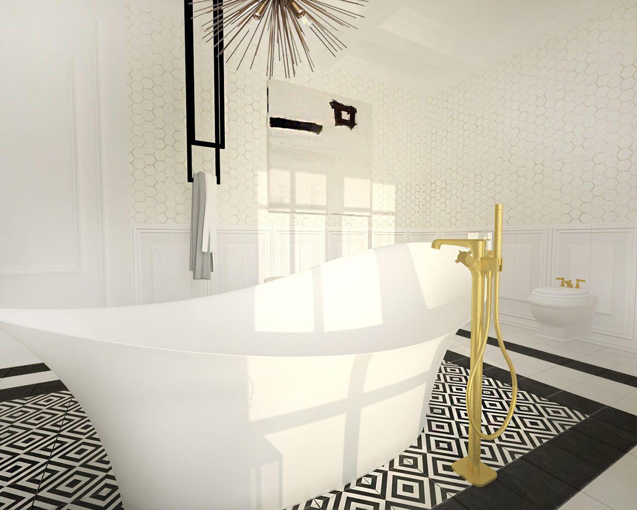 Projekt łazienki Przy Sypialni Ceramika Paradyż Wnętrze