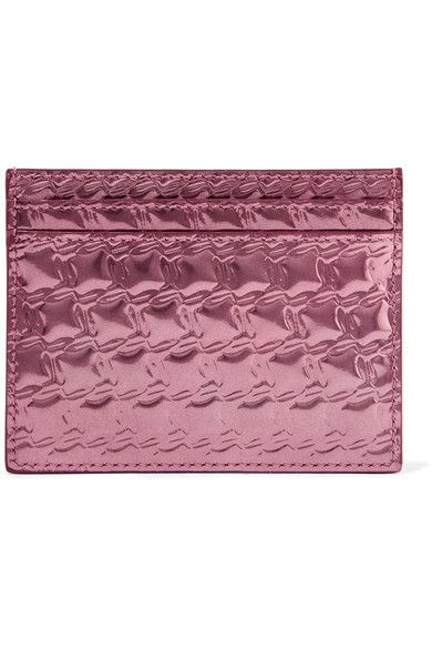 7ce02786103 Christian Louboutin - Kios embossed metallic leather cardholder ...