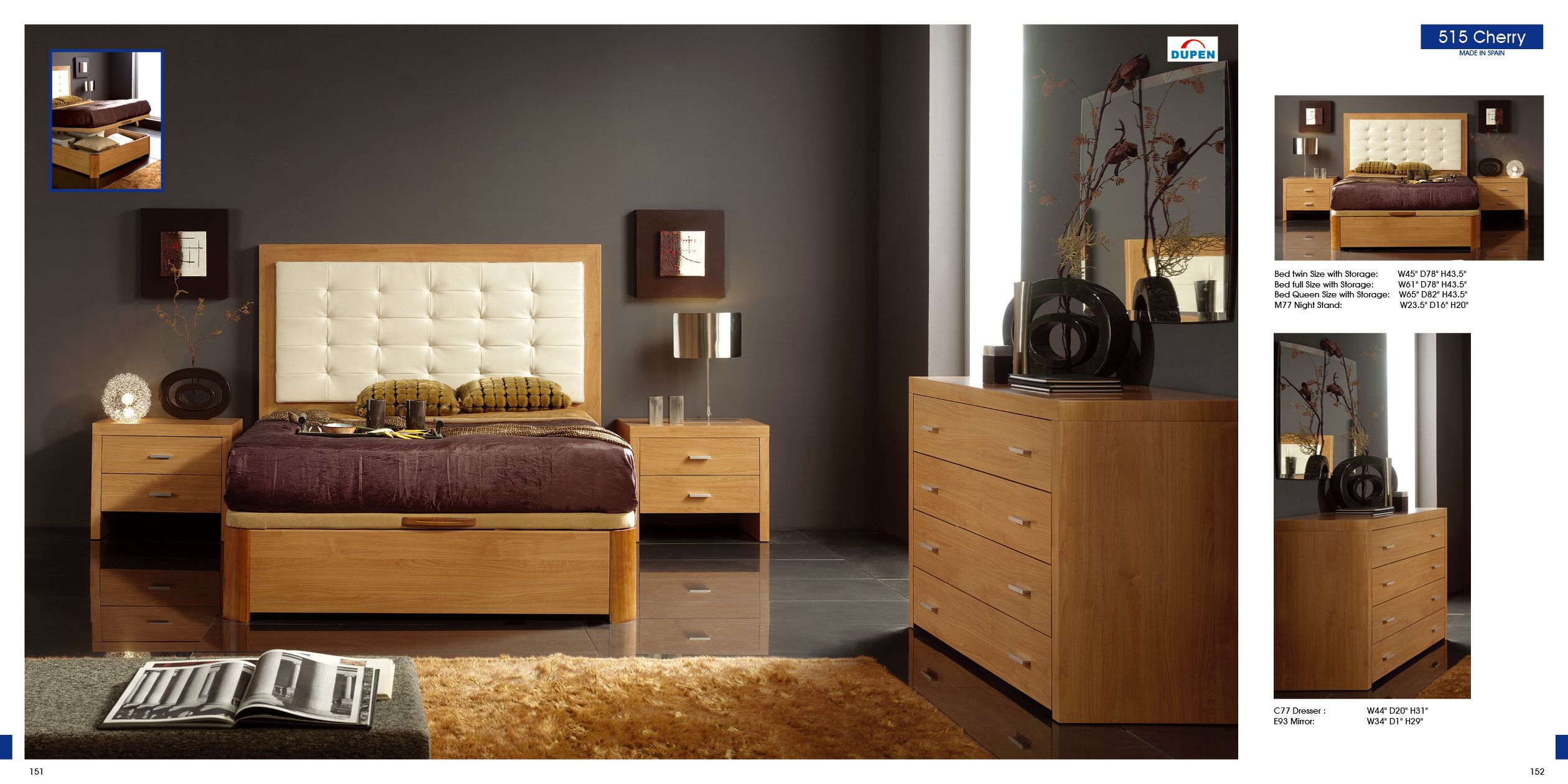 Bedroom Sets Light Wood alicante 515 cherry, m77, c77 the contemporary bedroom set