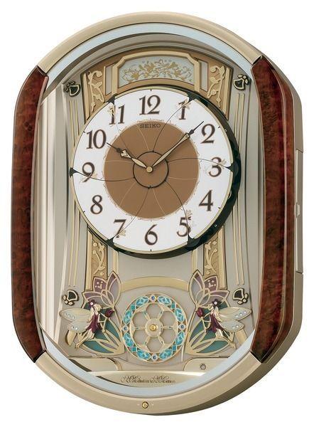 Seiko Clock Melodies In Motion Dancing Fairies Christmas Musical Wall Qxm275brh Clock Wall Clock Seiko