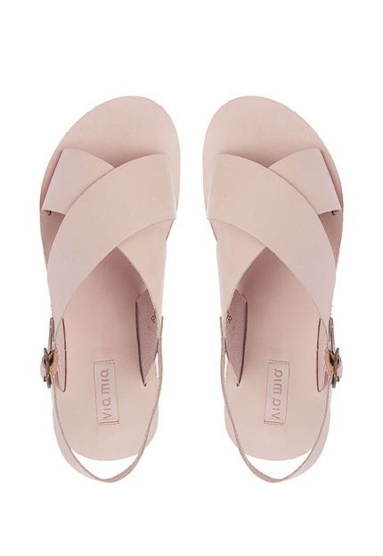 Rasteira Via Mia Flatform X Nude - Marca Via Mia   Shoe   Sock ... 0cd79aa4f9