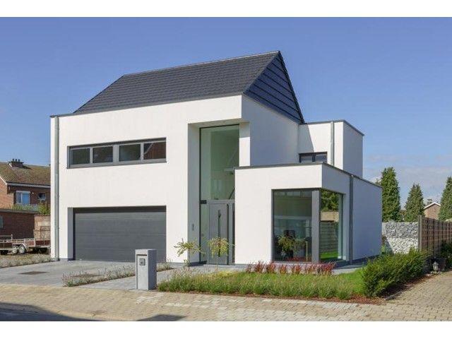 Zadeldak kleipan moderne woning house design pinterest - Deco moderne woning ...