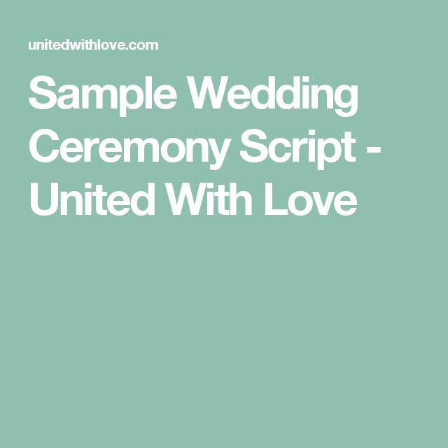 Sample Wedding Ceremony Script