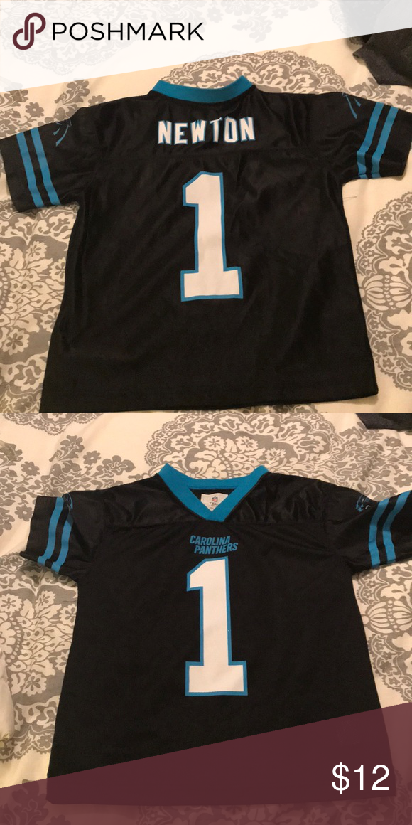Little boys Carolina Panthers Jersey Cam Newton Jersey. Size m (8) Shirts   Tops  Tees - Short Sleeve 984157fd2