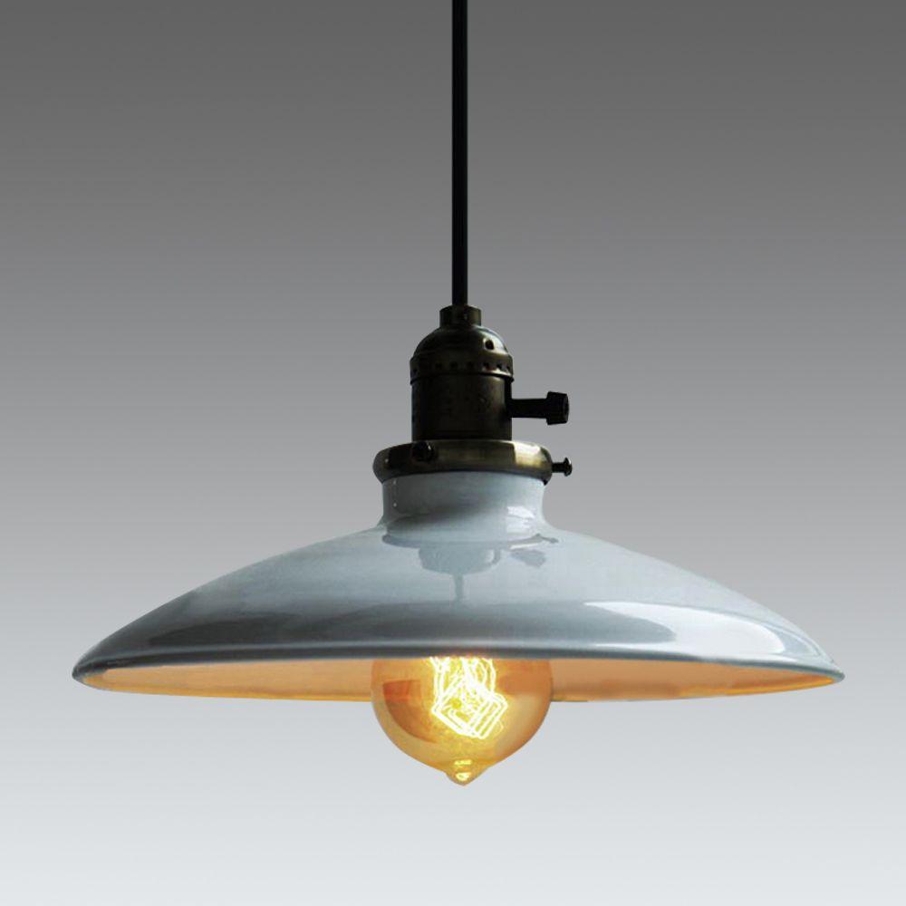 Loft Vintage Pendant Lamp Dia 250mm E27 Aluminum Iron Retro  $28