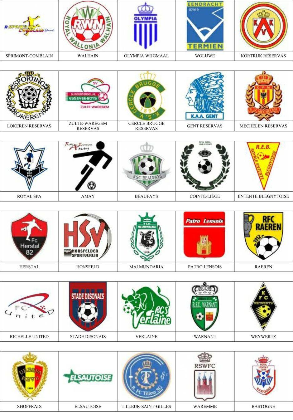 Blgica  Pins de escudosinsiginas de equipos de ftbol  sports